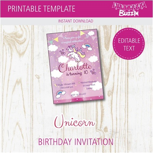 rainbow unicorn birthday party printables
