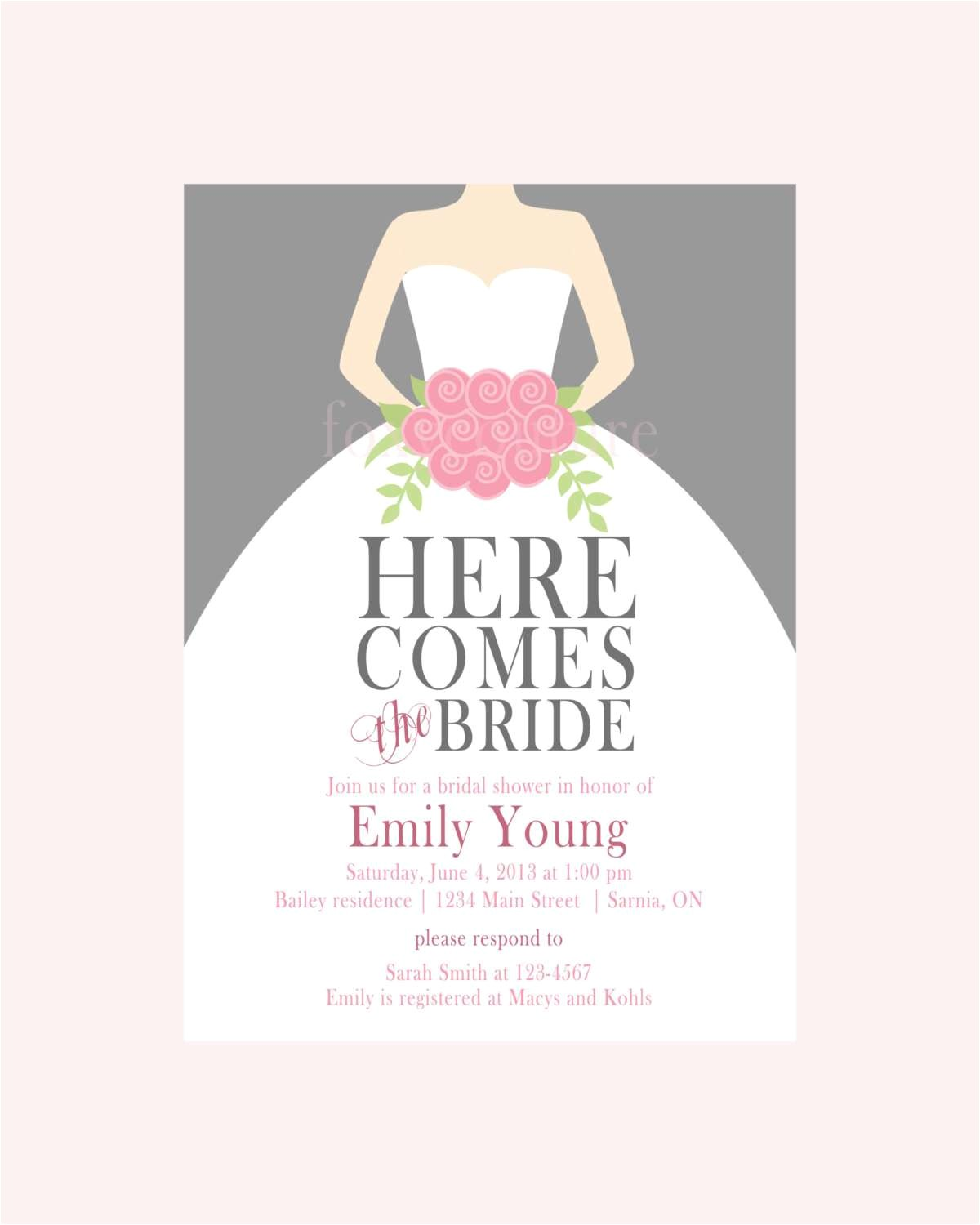 free wedding shower invitations