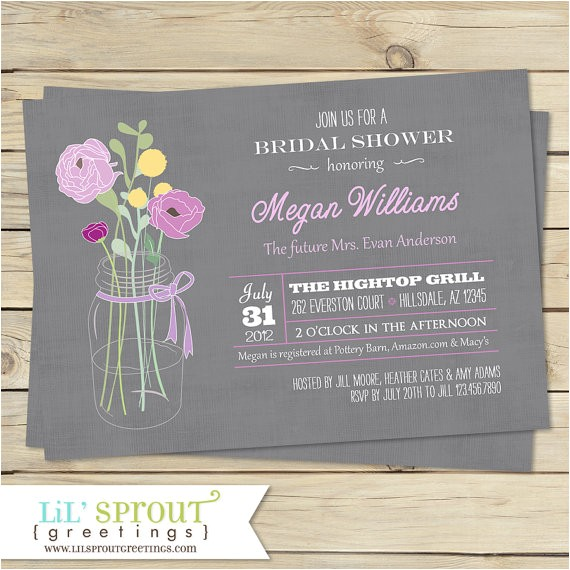vintage bouquet bridal shower invitation color
