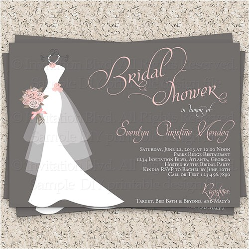 bridal shower invitations template