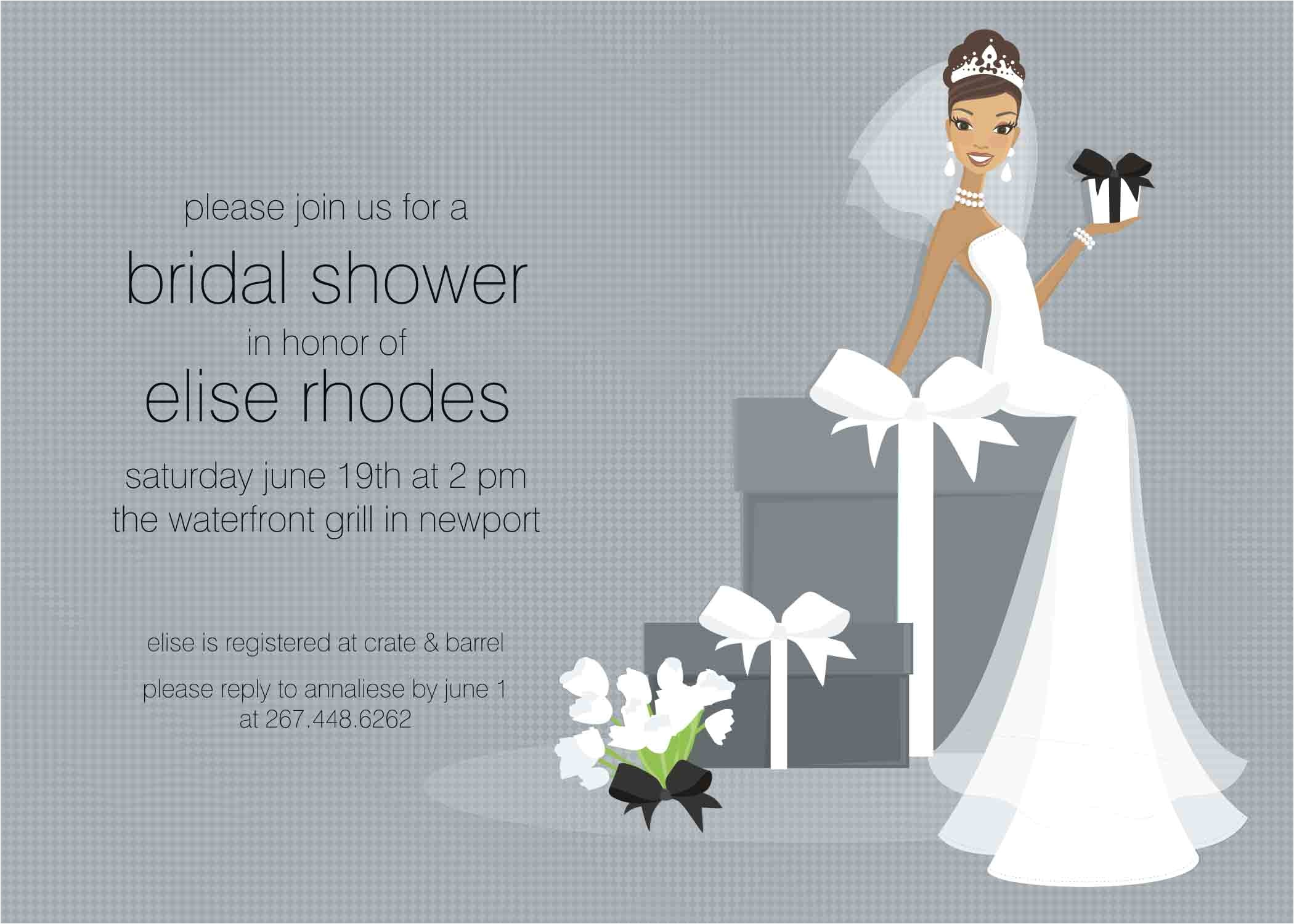free wedding shower invitation idea