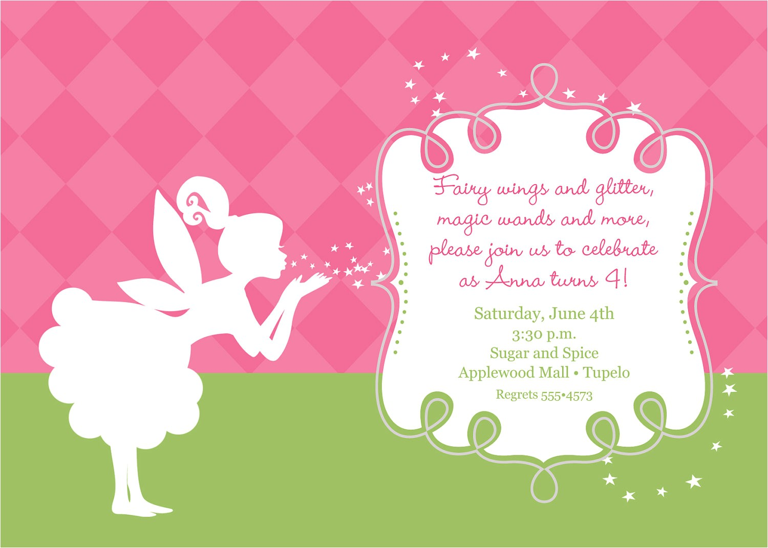fairy birthday invitations