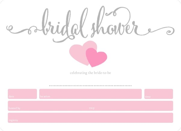 simply sweethearts fill in the blank bridal shower invitation