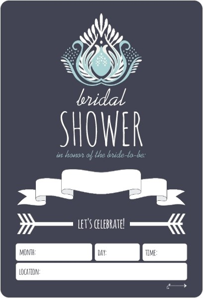 something blue fill in the blank bridal shower invitation
