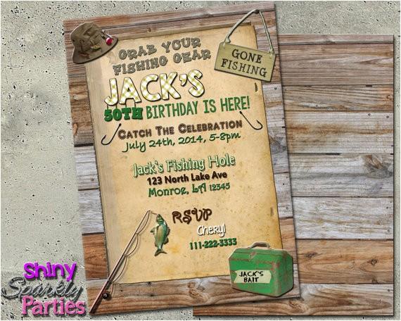 printable fishing birthday invitation