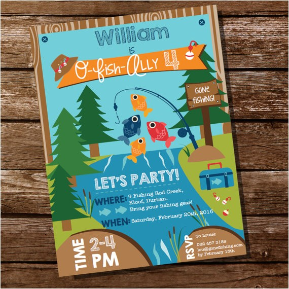 gone fishing invitation fish ally party