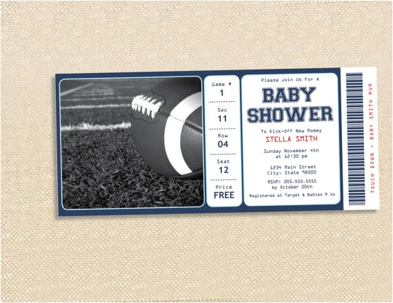 football baby shower invitation 2