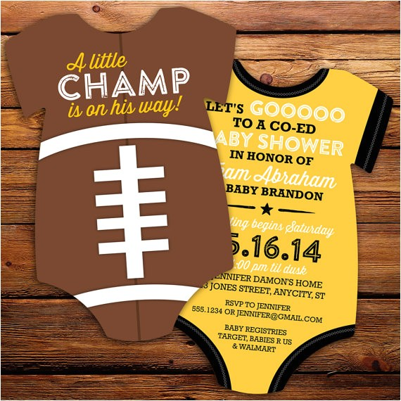 football baby shower invitations all