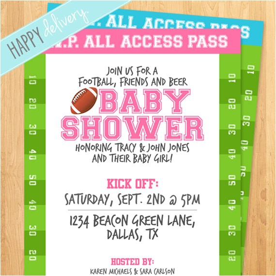 printable football baby shower