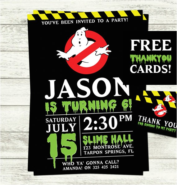 ghostbusters birthday party invitations