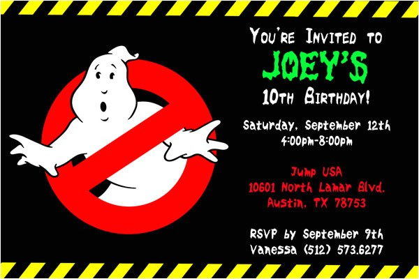 ghostbusters invitations