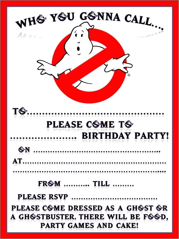 Free Ghostbusters Birthday Invitations Scuwiffpixi S Blog Ghostbusters Birthday Party for My 5