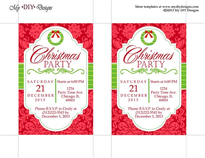 christmas invitation template