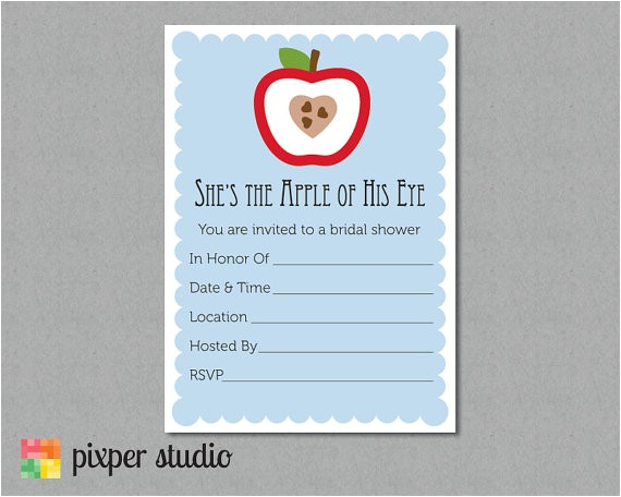 instant download bridal shower fill invitation