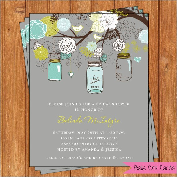 mason jars bridal shower invitations wsi256diy