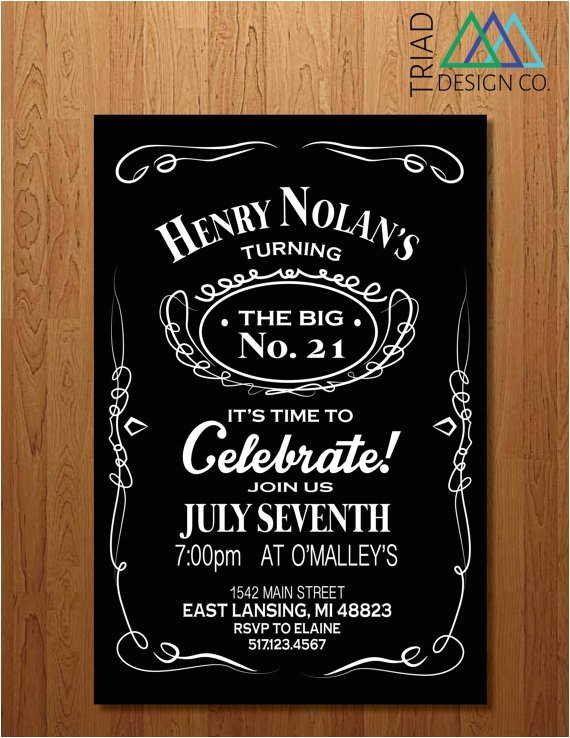 printable invitation 21st birthday