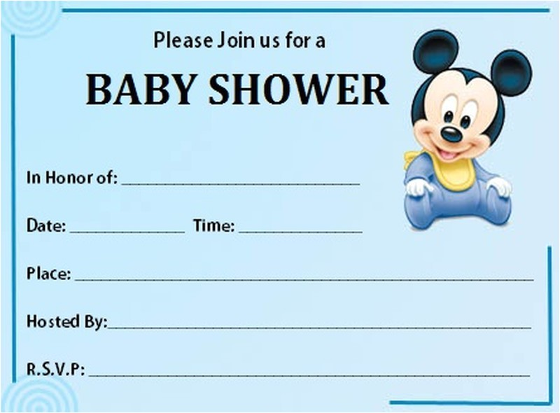 mickey mouse baby shower invitation free template