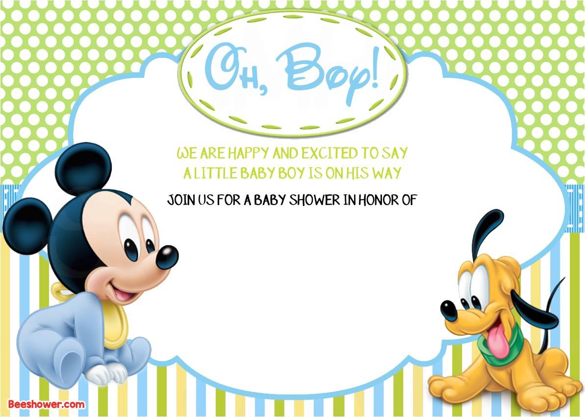 new free printable mickey mouse baby shower invitation template respond