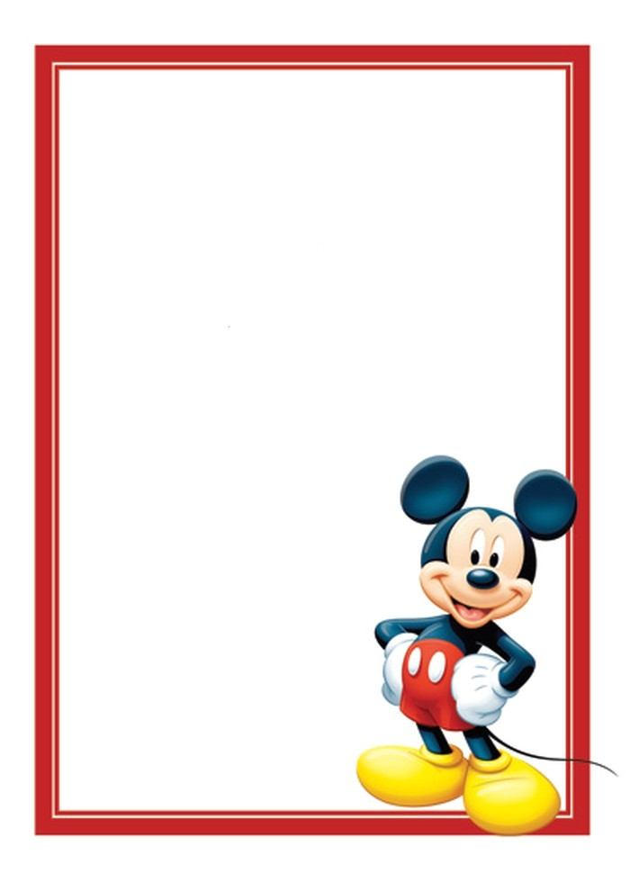 free mickey mouse invitations template
