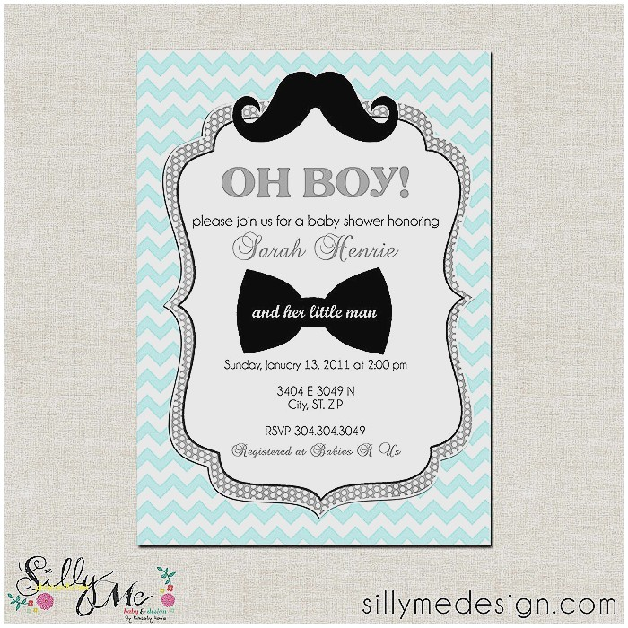 free mustache baby shower invitation templates