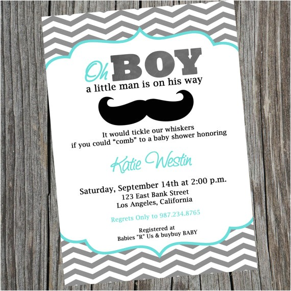 man printable party invitation mustache man 2