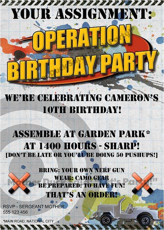 nerf gun birthday party ideas