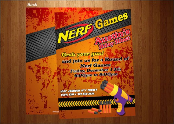 free nerf gun party invitations