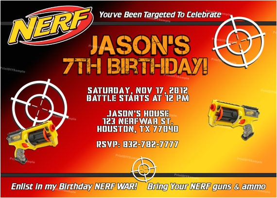 personalized nerf boy birthday party