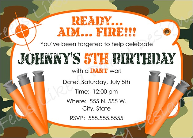 nerf party invitations for simple invitations of your party invitation templates using sensational design ideas 12