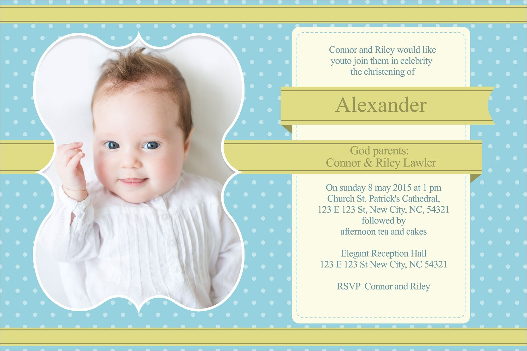 baptism invitation templates for girls