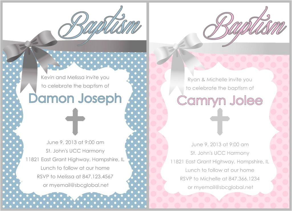 free printable baptism invitations