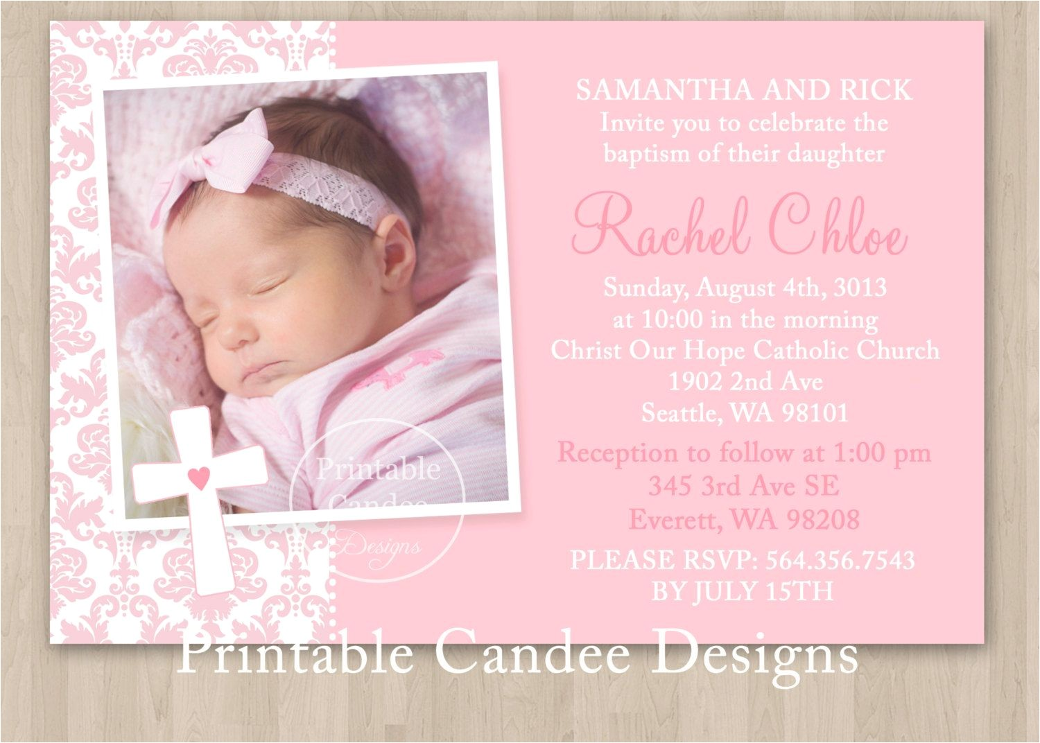 Free Online Baptism Invitations Free Printable Baptism Invitations