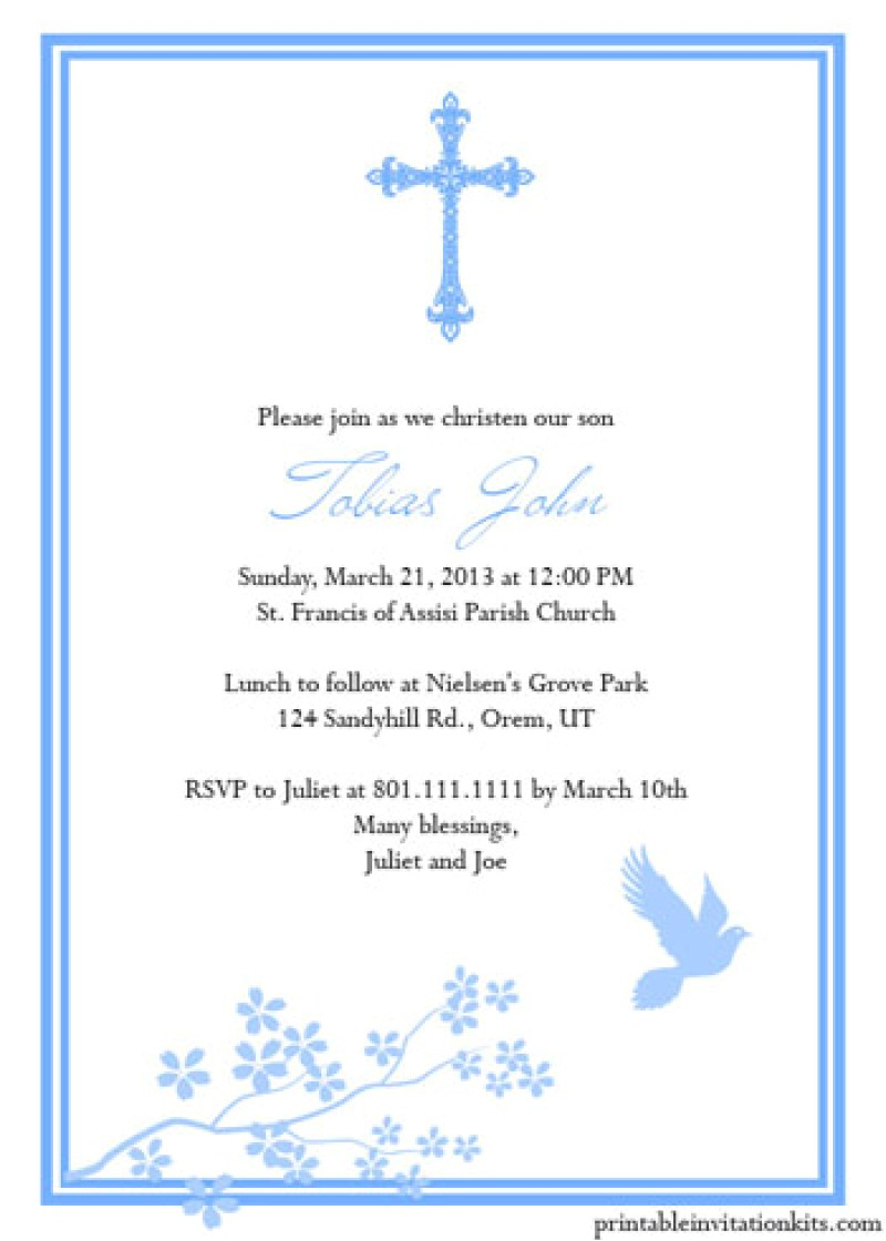 baptism invitation card free