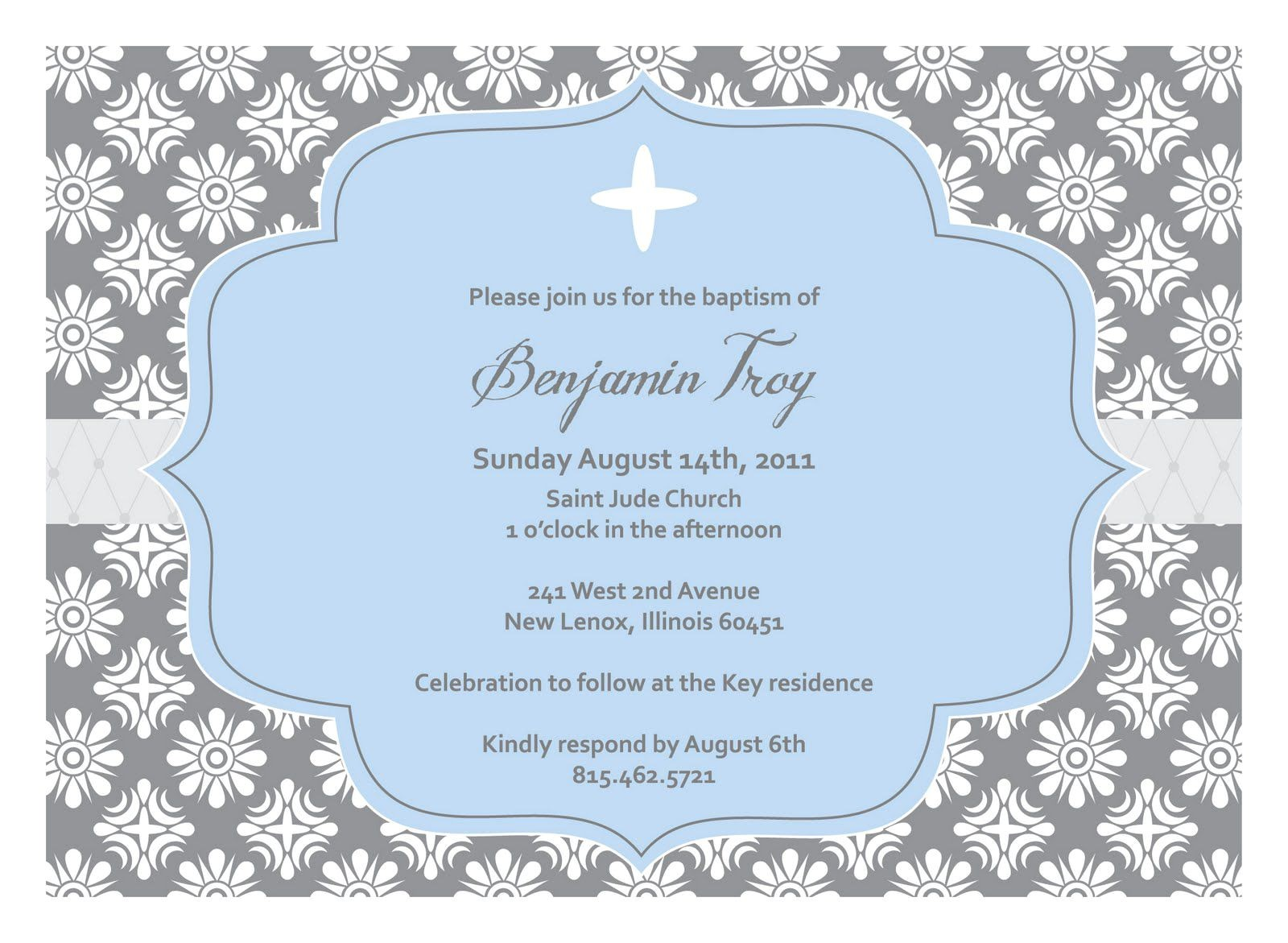baptism invitation template girl