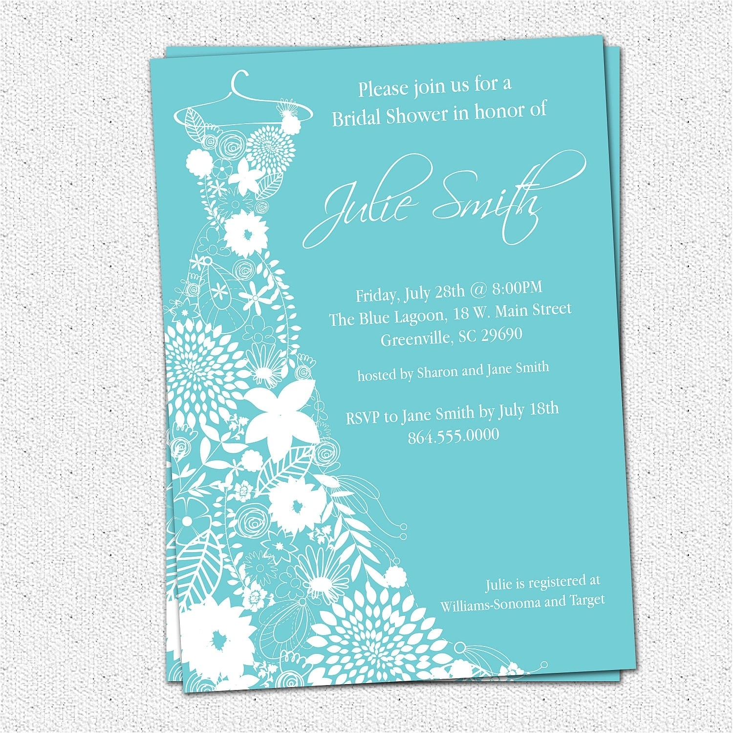 bridal shower invitations tar template