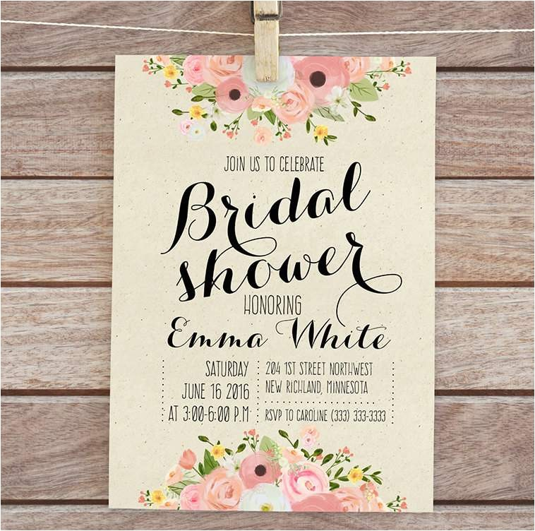 bridal shower invitations templates free download shtml