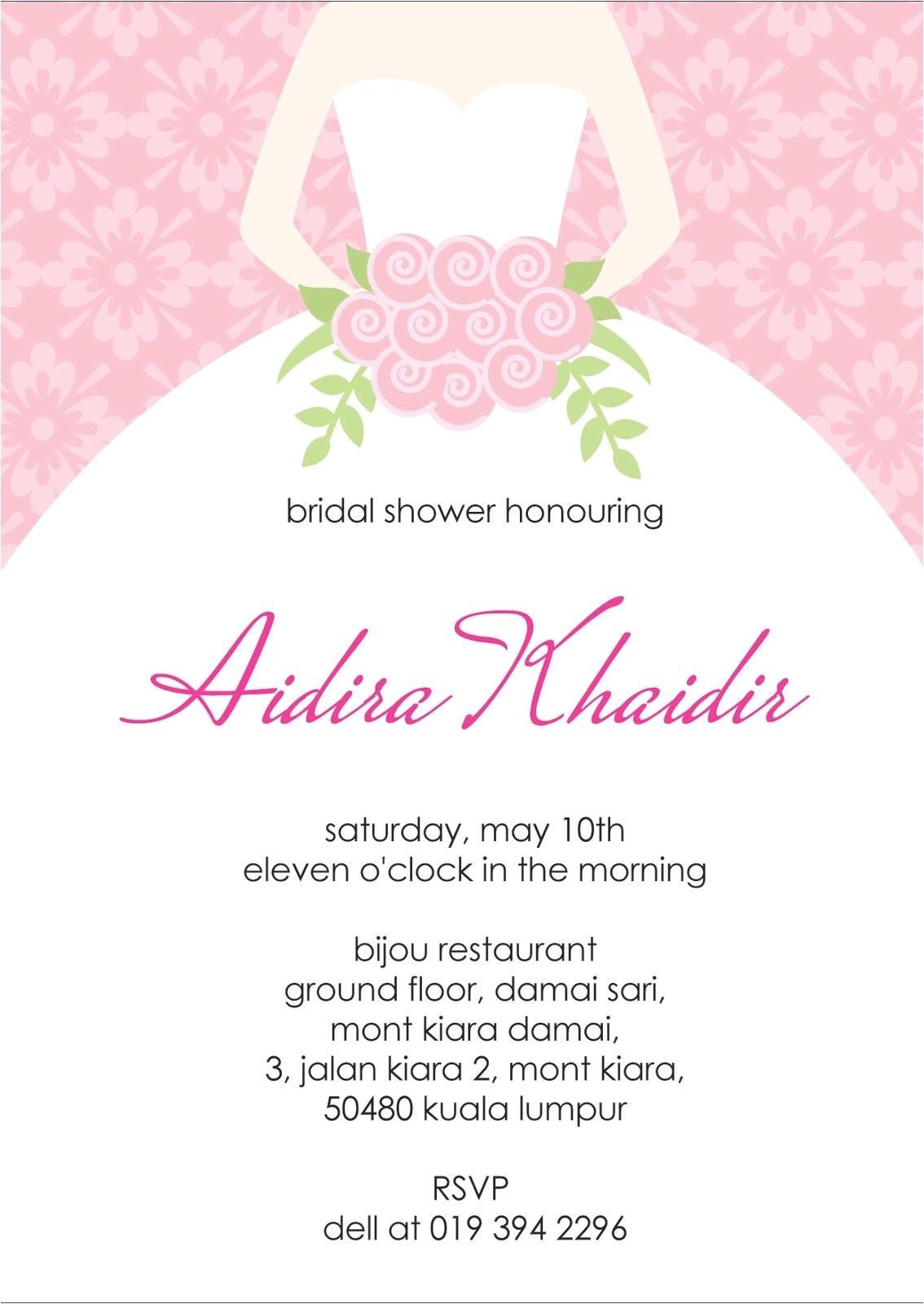 bridal shower invitation clip art free