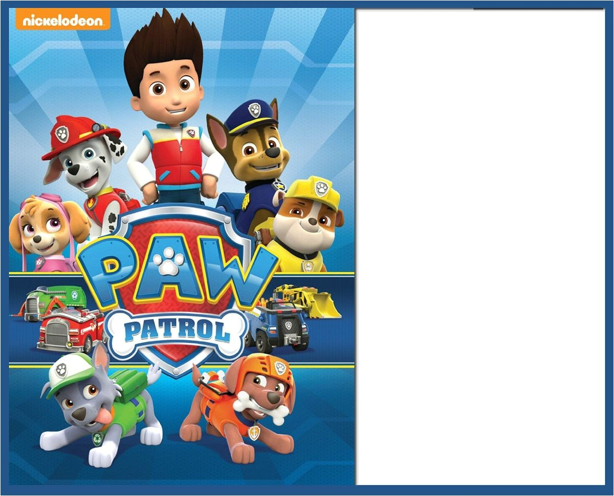 8 pawsome paw patrol birthday invitations