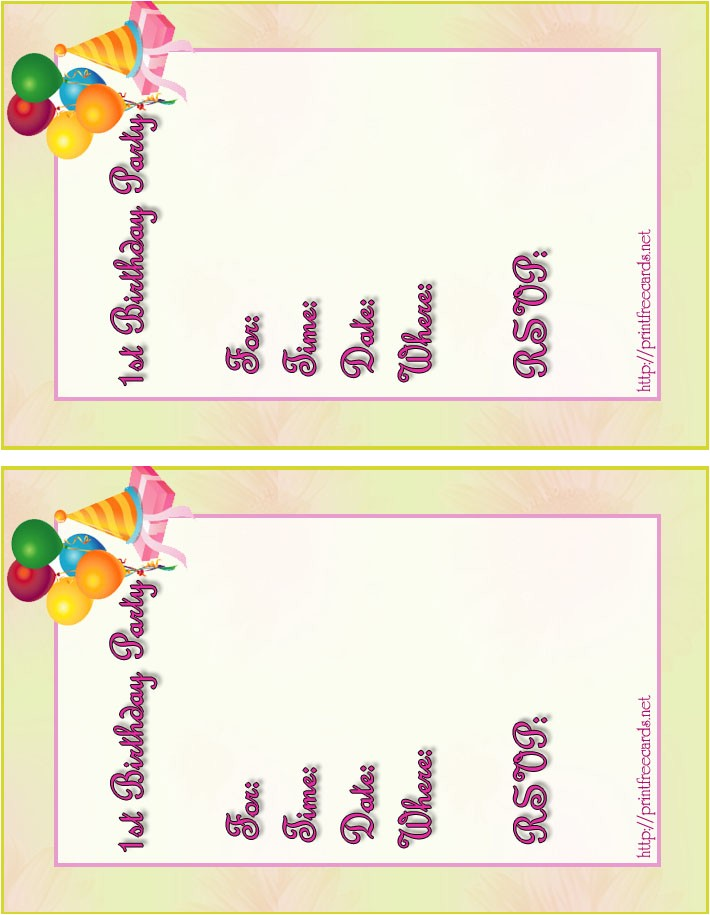 10 personalized printable birthday party invitations