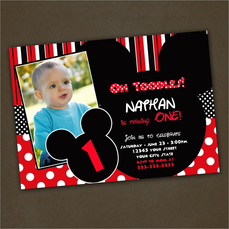 mickey mouse birthday invitations custom