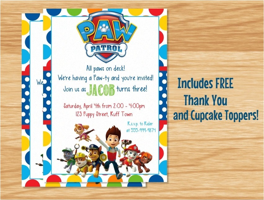 custom made paw patrol birthday