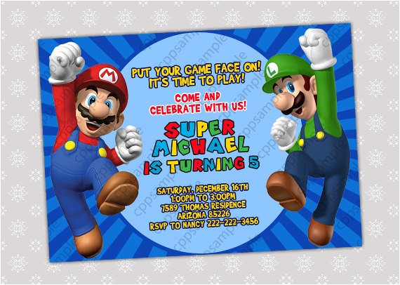 super mario bros birthday party