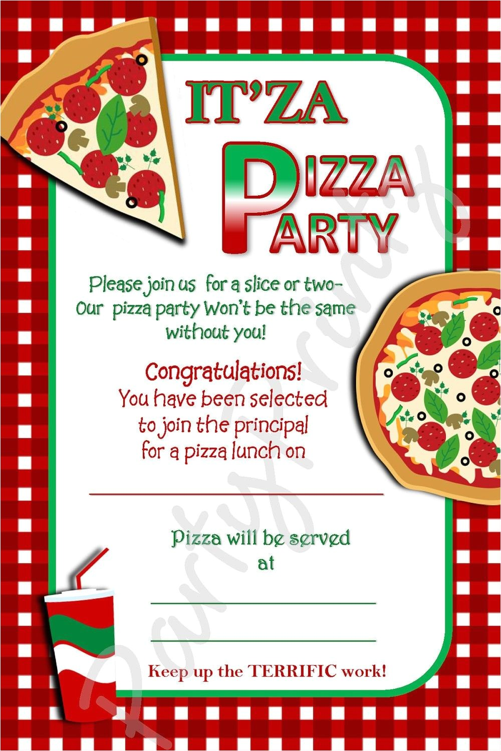 Free Pizza Party Invitation Template Pizza Party Invitations Party Invites Pinterest