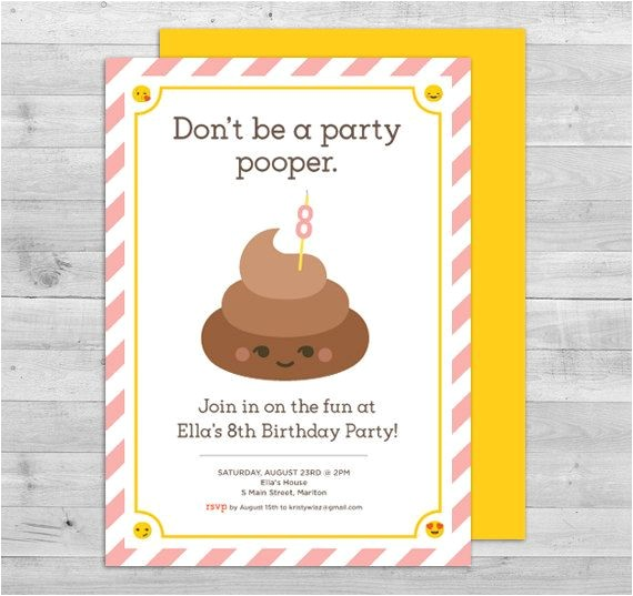Free Poop Emoji Birthday Invitations 115 Best Images About Emoji Party On Pinterest