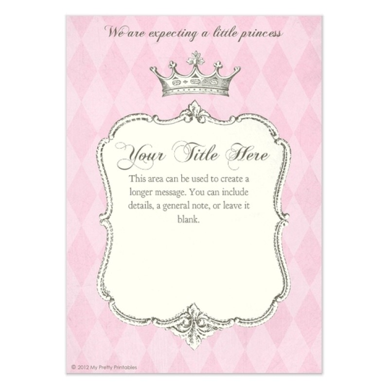 princess birthday invitations template