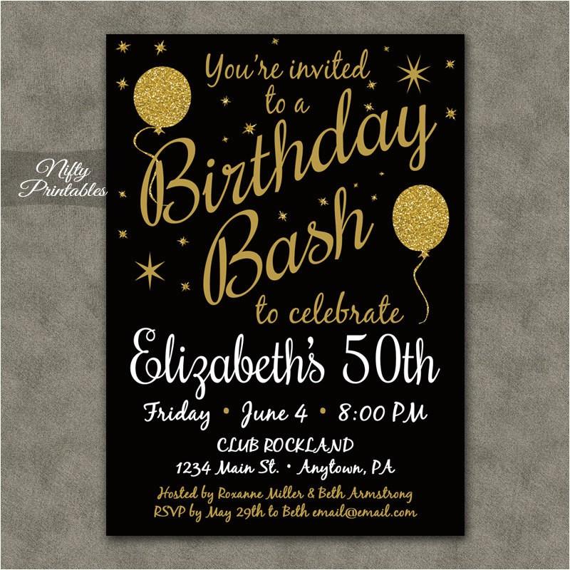 50th birthday invitation printable 50