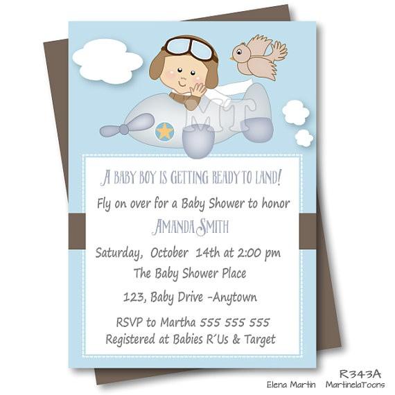 airplane baby shower invitation precious cargo
