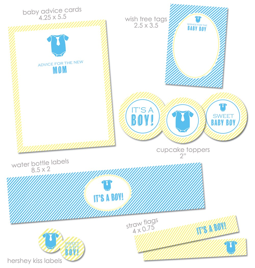 free its a boy baby shower printables from green apple paperie