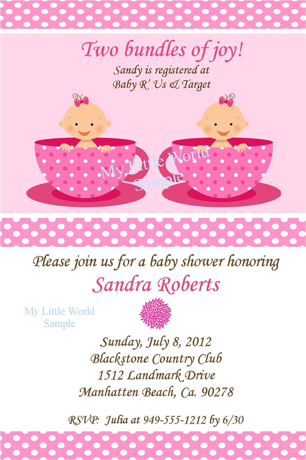 twin invitation twin birthday