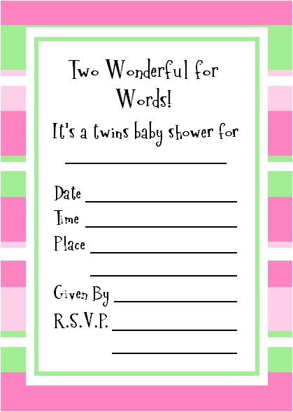 twins baby shower